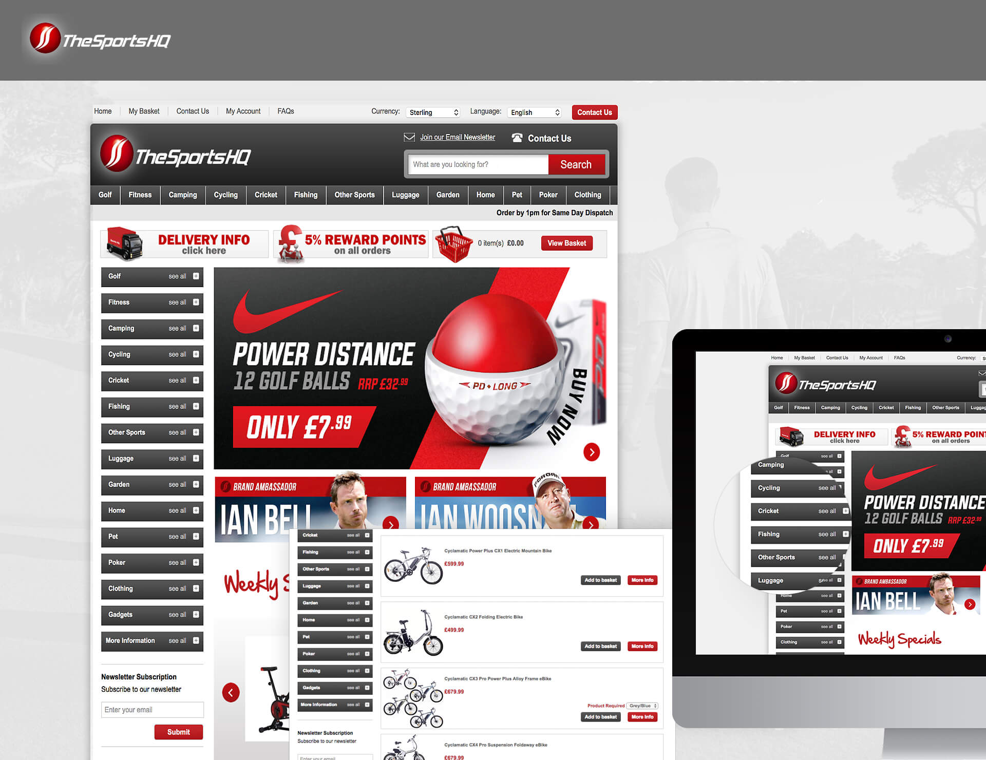 Sports HQ - Website & Sales Order Processing System
