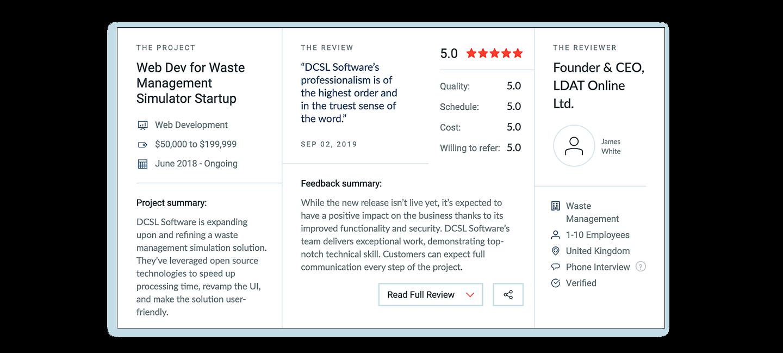 DCSL Software Client Review