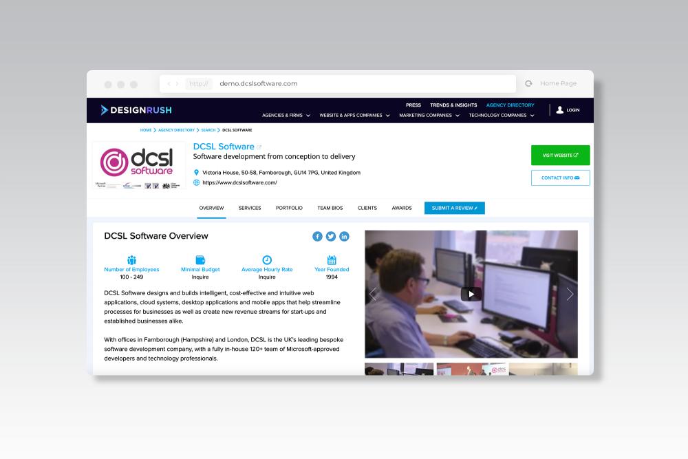 DesignRush Profile - DCSL Software